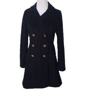 Just Me Navy Blue Mid-Thigh Length Peacoat